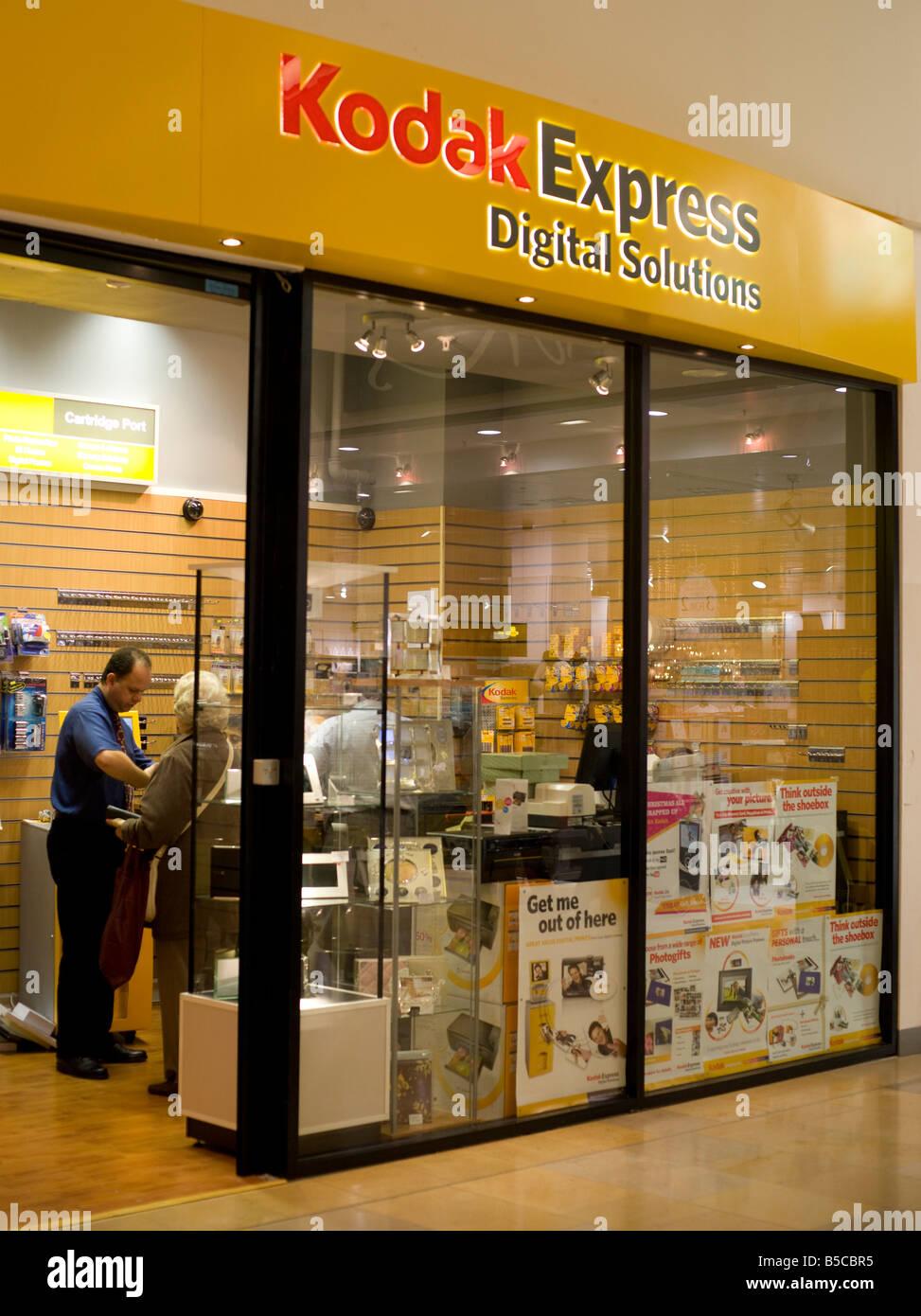 Kodak Express retail shop 2008 in Ocean Terminal Edinburgh