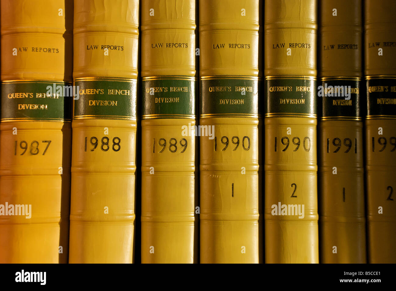 Queen's bench division law reports - Stock Image