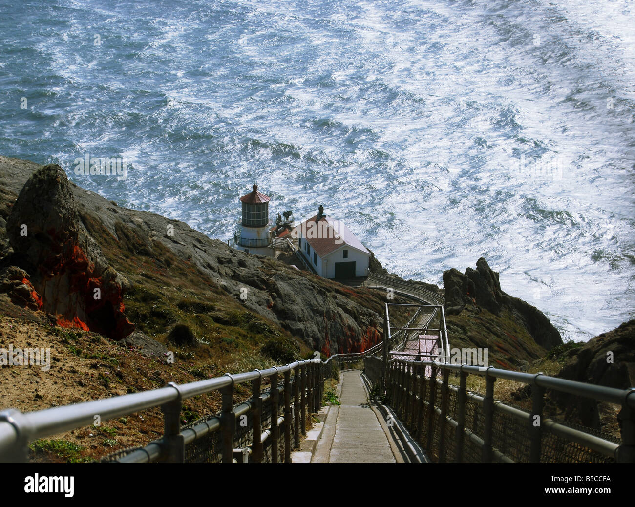 Point Reyes Lighthouse, Point Reyes, California - Stock Image