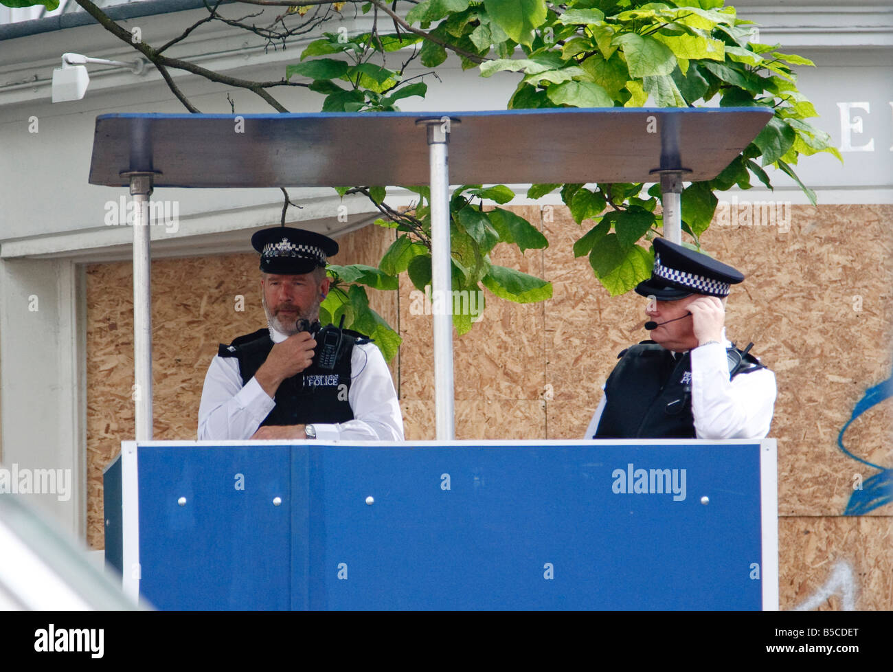 police control post at Notting Hill Carnival 2008 - Stock Image