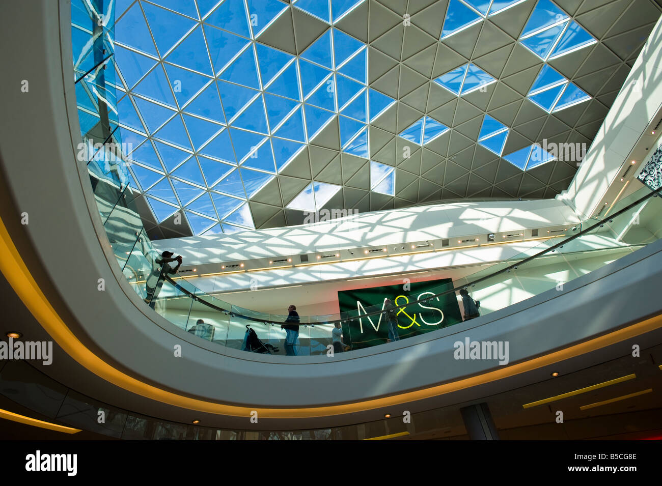 M&S department store Westfield Shopping Centre White City Development W12 London United Kingdom Stock Photo
