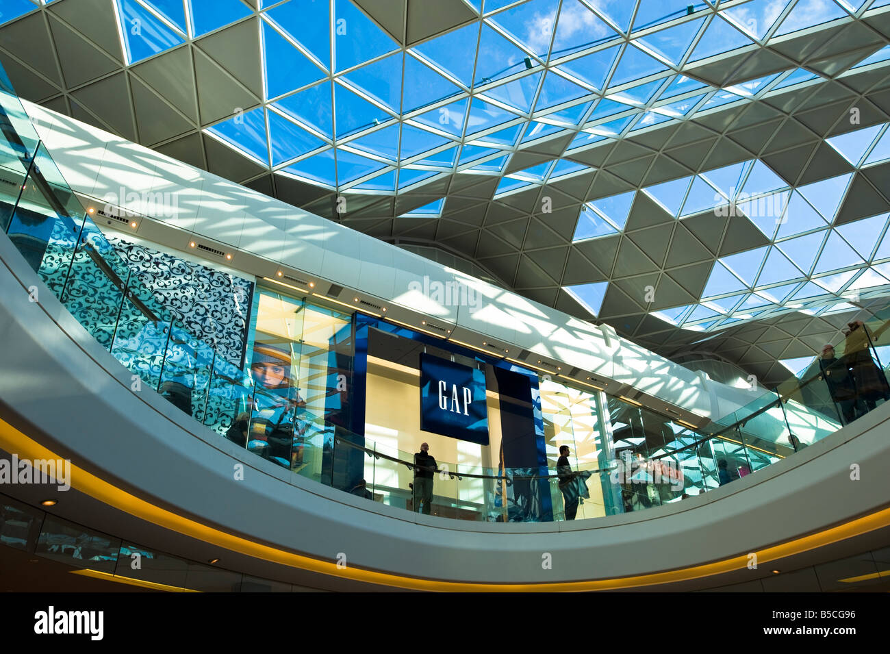 GAP outlet in Westfield Shopping Centre White City Development W12 London United Kingdom - Stock Image