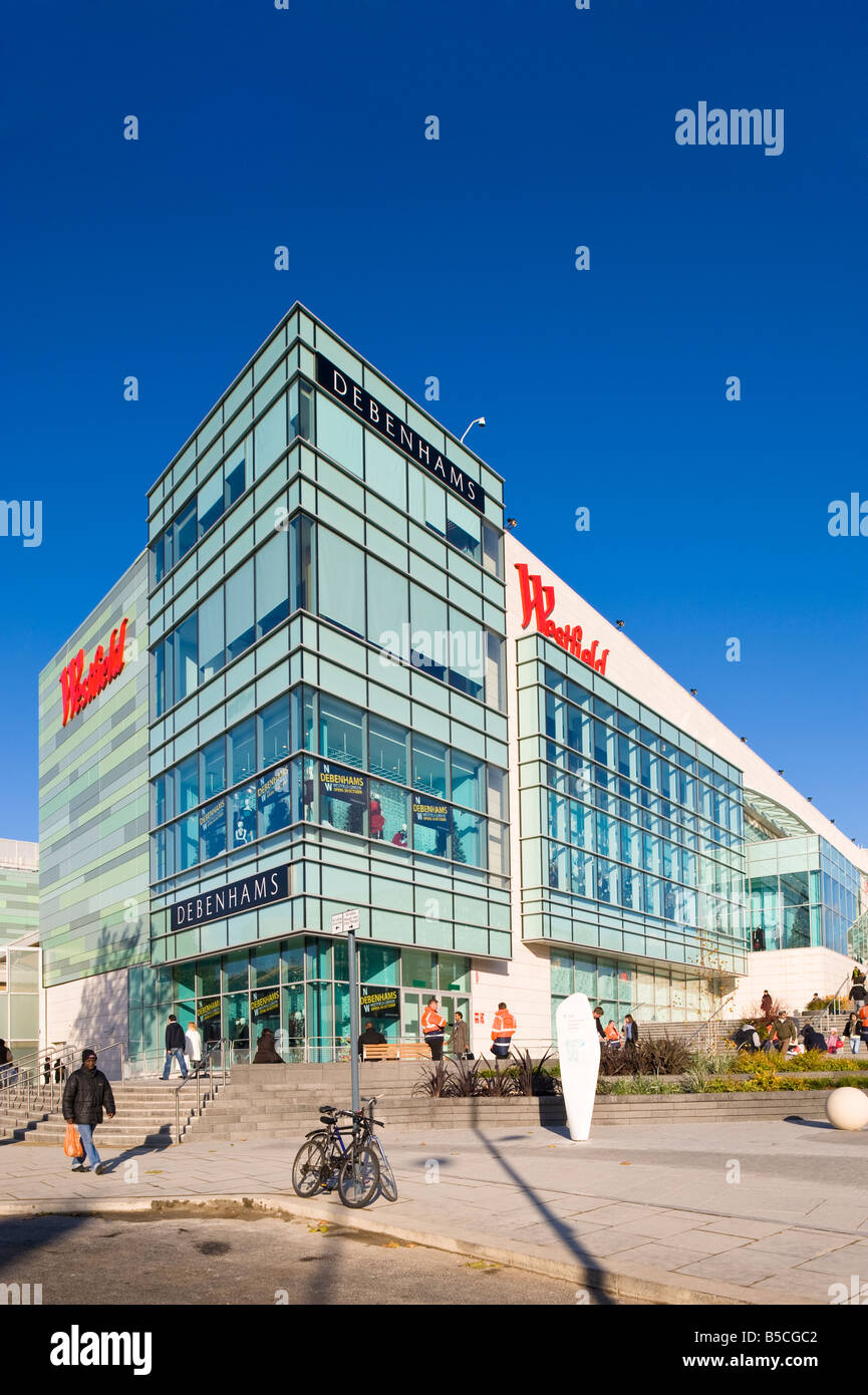 Westfield Shopping Centre White City Development W12 London United Kingdom - Stock Image