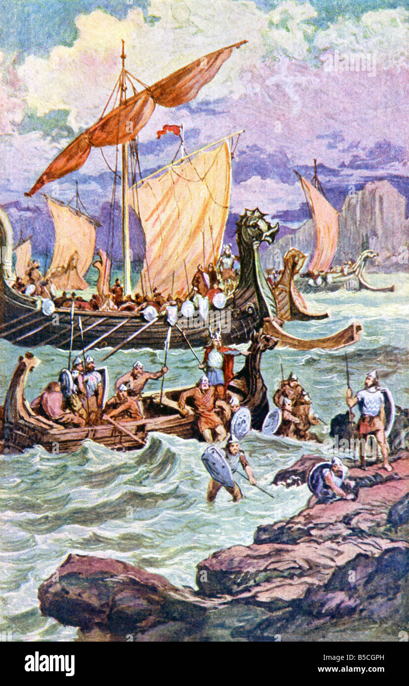 The Norse are also known as Vikings and were among the best sailors and shipbuilders in the world. - Stock Image