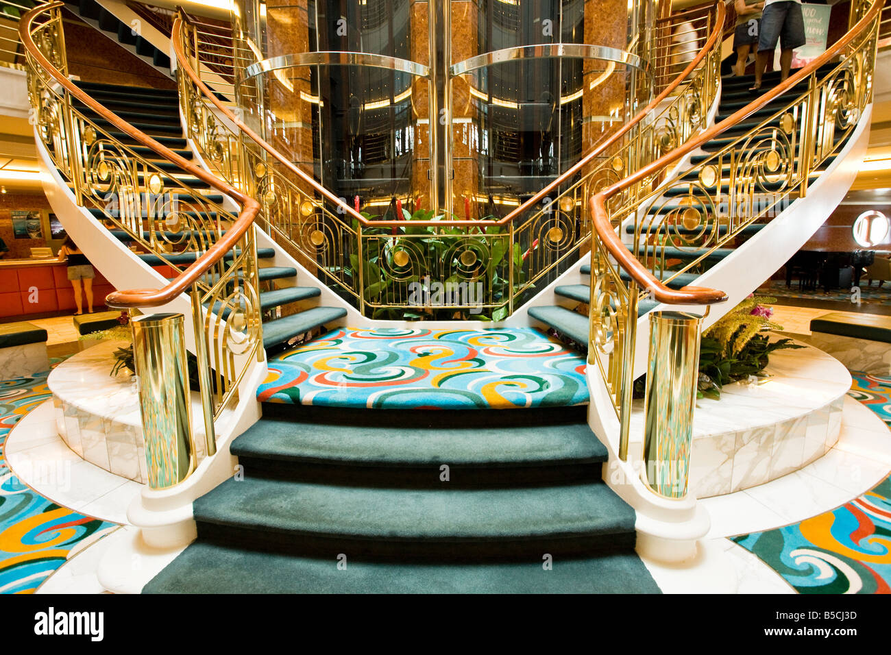 Image result for modern cruise ship main staircase