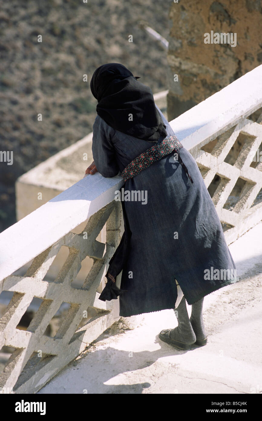 greece, dodecanese islands, karpathos, olymbos, greek woman wearing traditional clothes Stock Photo