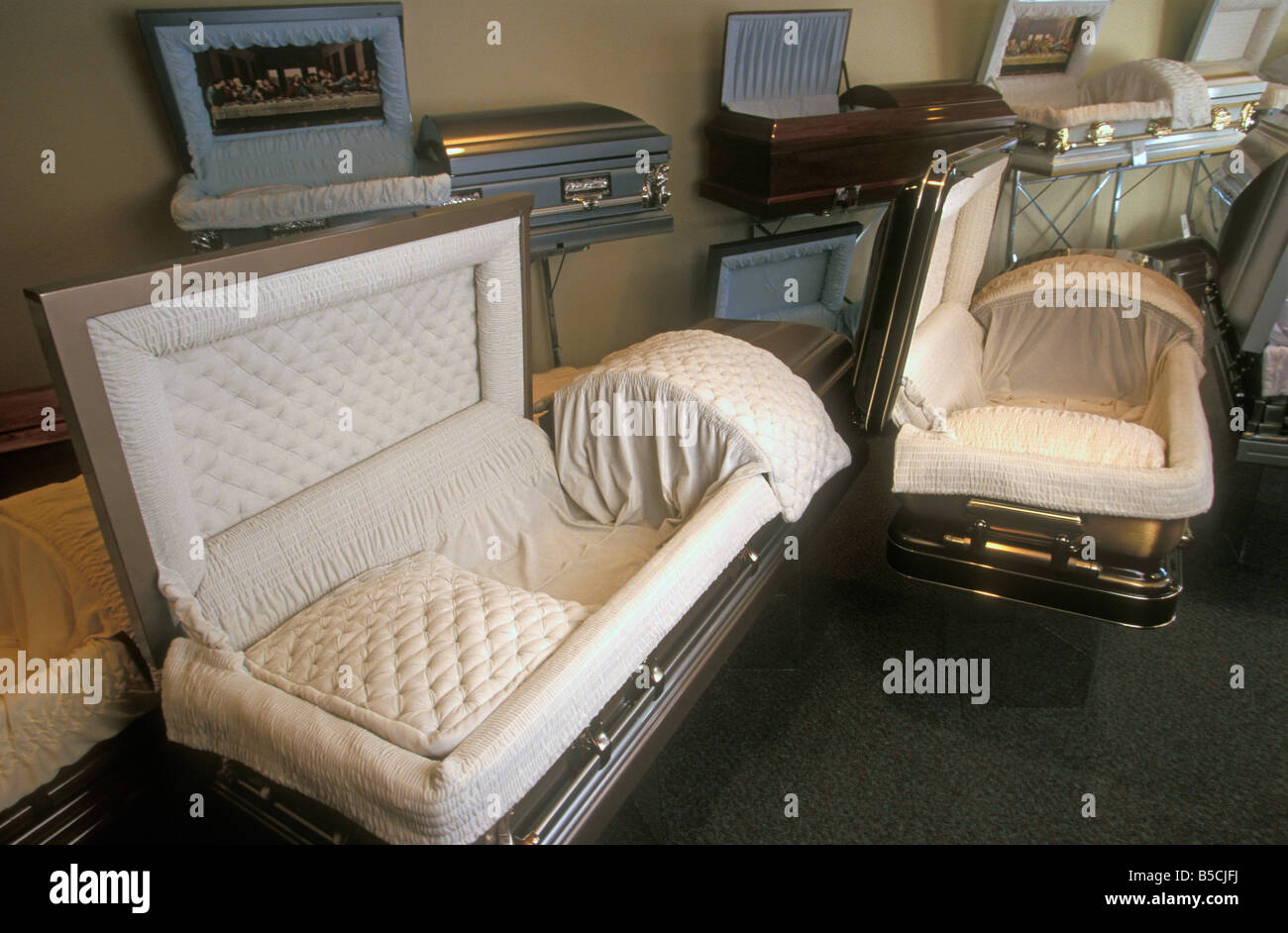 funeral caskets stock photo 20561622 alamy