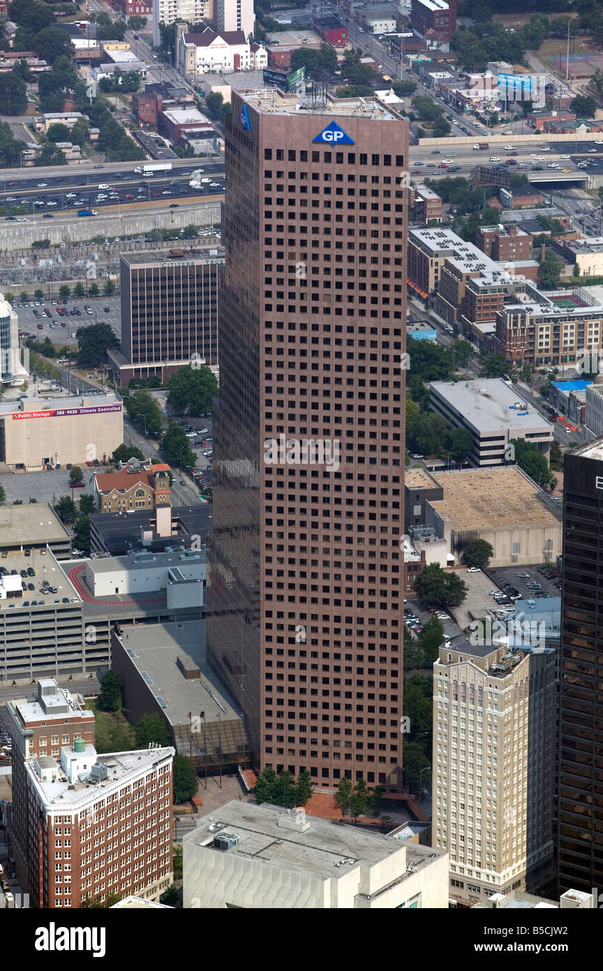aerial view above Georgia Pacific Tower Atlanta Georgia - Stock Image