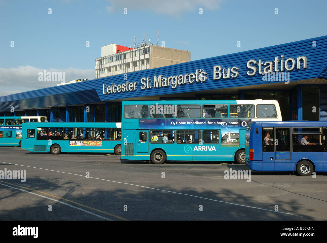 Leicester St Margarets bus station, Burleys Way, Leicester, England, UK - Stock Image
