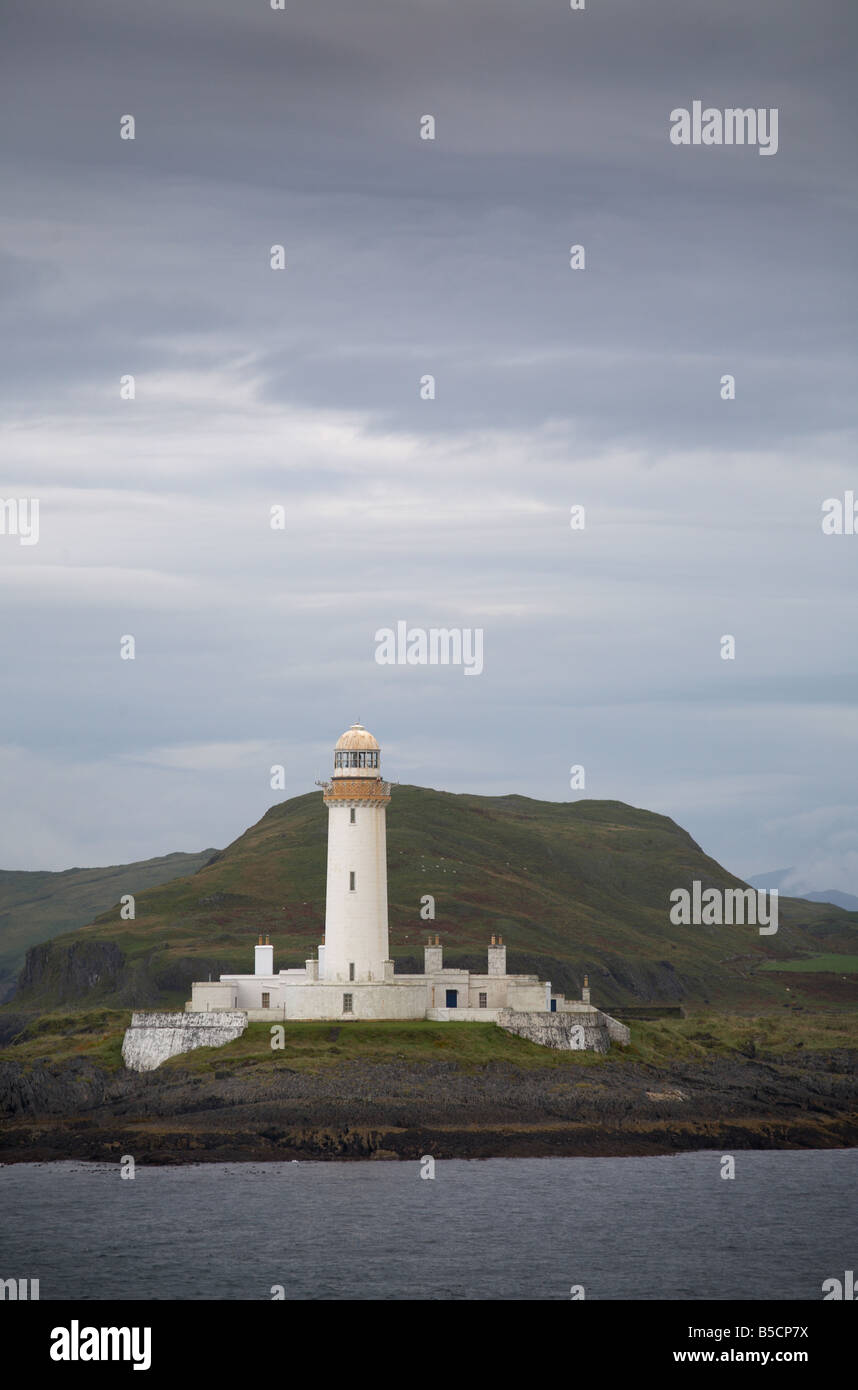 Lismore Lighthouse taken from ferry between Oban and Mull Inner Hebrides Argyll Scotland UK United Kingdom GB Great Stock Photo