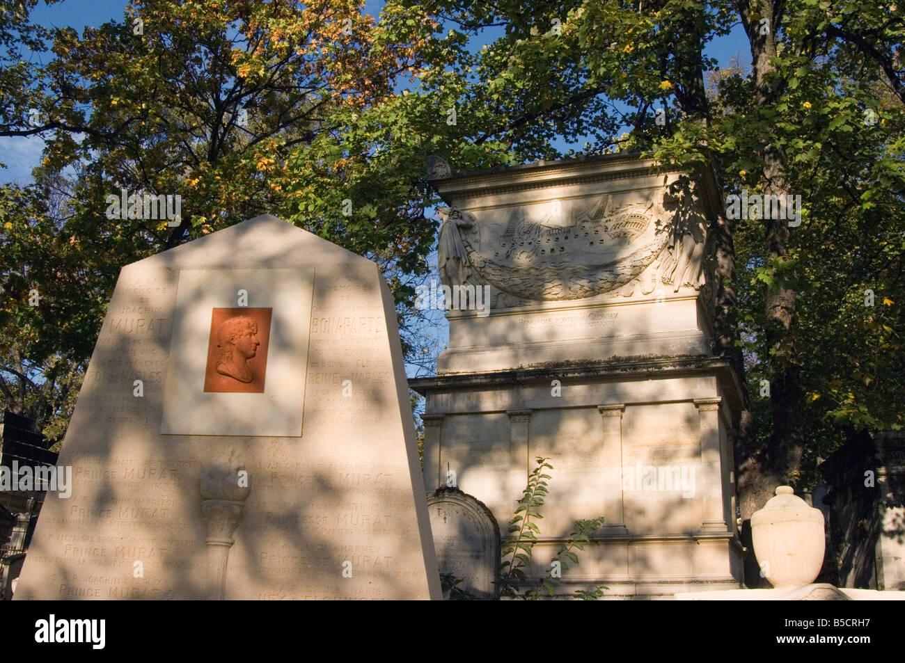Père Lachaise Cemetery Paris - Stock Image