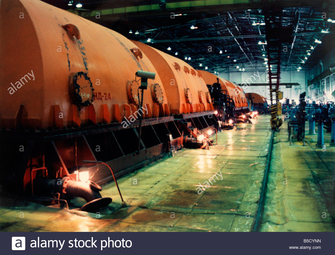 Chernobyl Belarus Turbines Of Nuclear Power Station - Stock Image