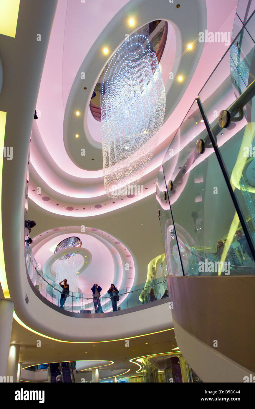 Interior of Westfield shopping complex West London Stock Photo