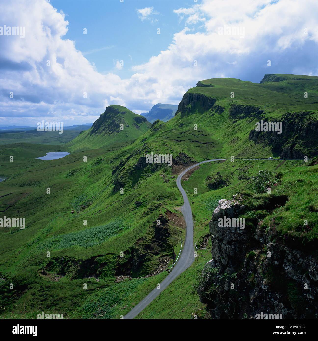 Rural Road In The Beinn Edra Range Near Staffin Isle Of