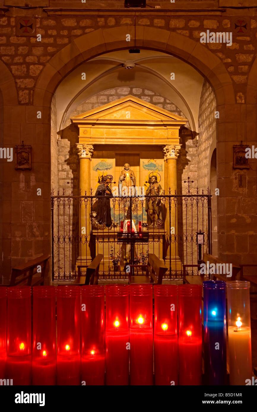 Basilica Santa Ma Del Pi, Ciutat Vella District, Barcelona, Catalonia, Spain, Europe - Stock Image