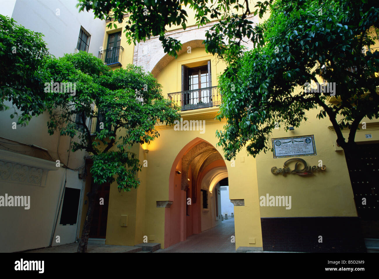 Arched passageway mentioned in novel by Cervantes, Santa Cruz district, Seville, Andalucia (Andalusia), Spain, Europe - Stock Image