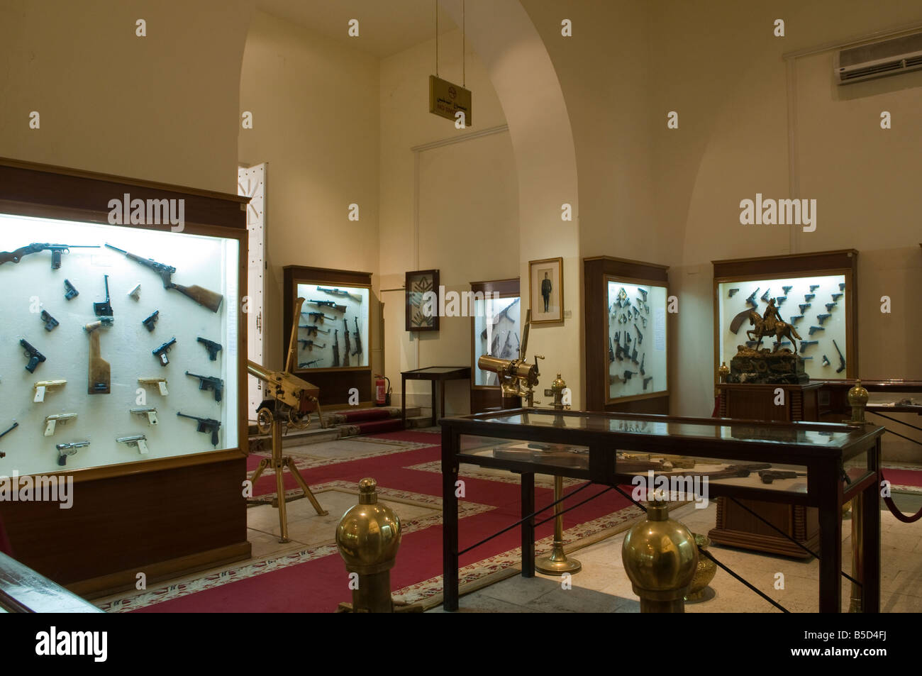 Old weapons displayed at the the Arms museum in Abdeen Palace, Cairo Egypt Stock Photo