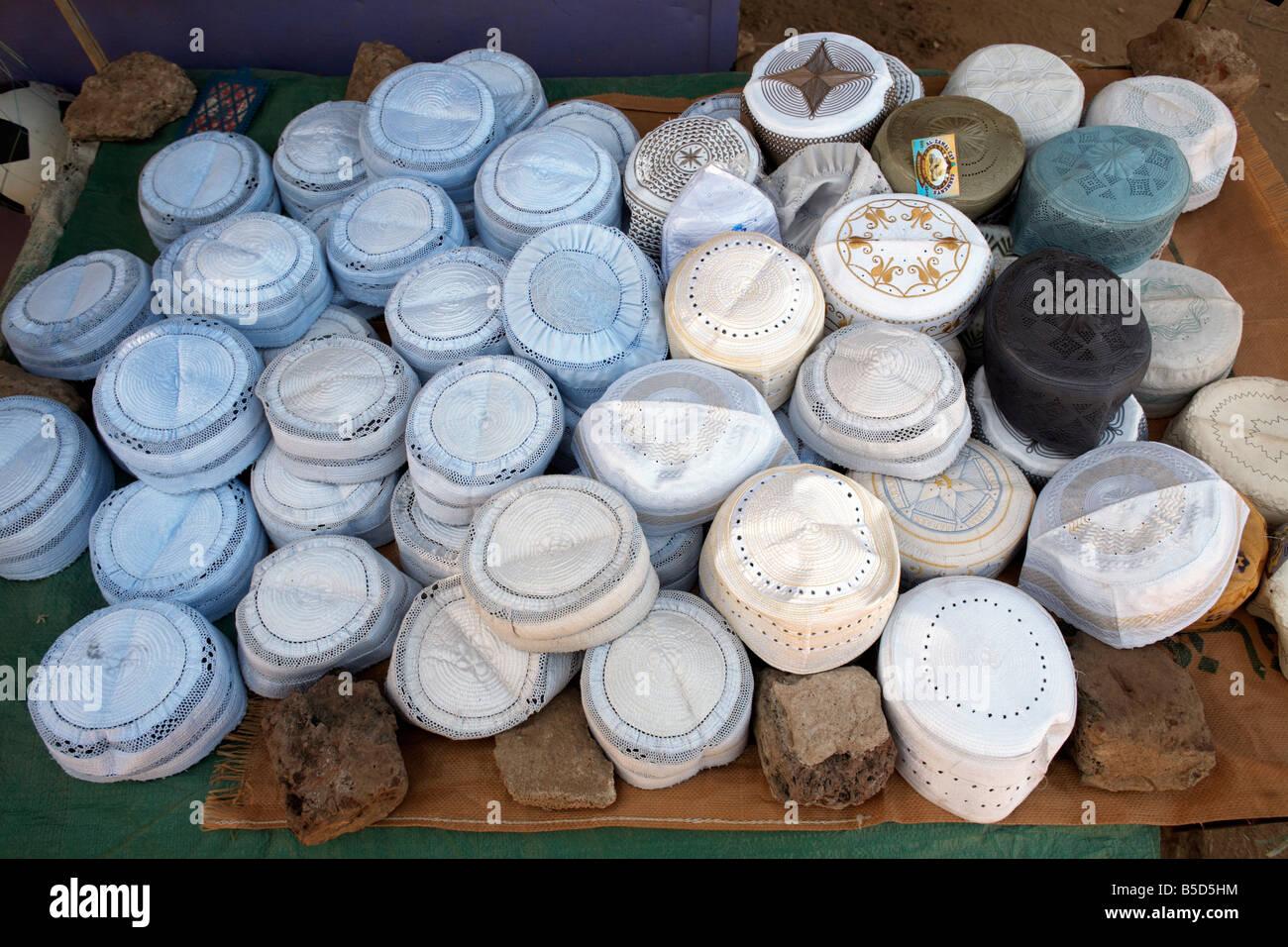 4c75f406c4a Islamic caps (Muslim hats) on sale in the town of Shendi