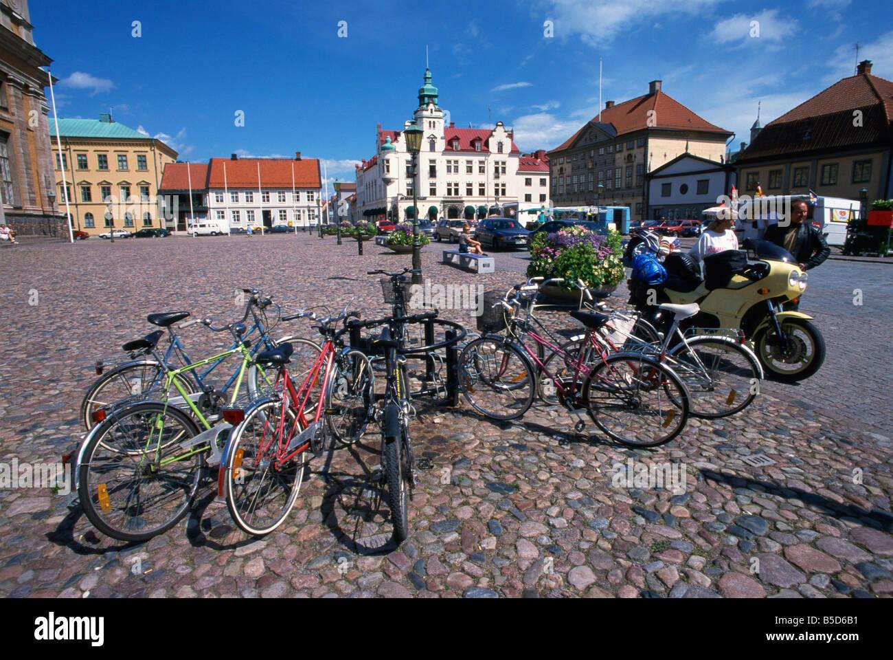 Stortorget Kalmar Smaland Sweden Scandinavia Europe - Stock Image