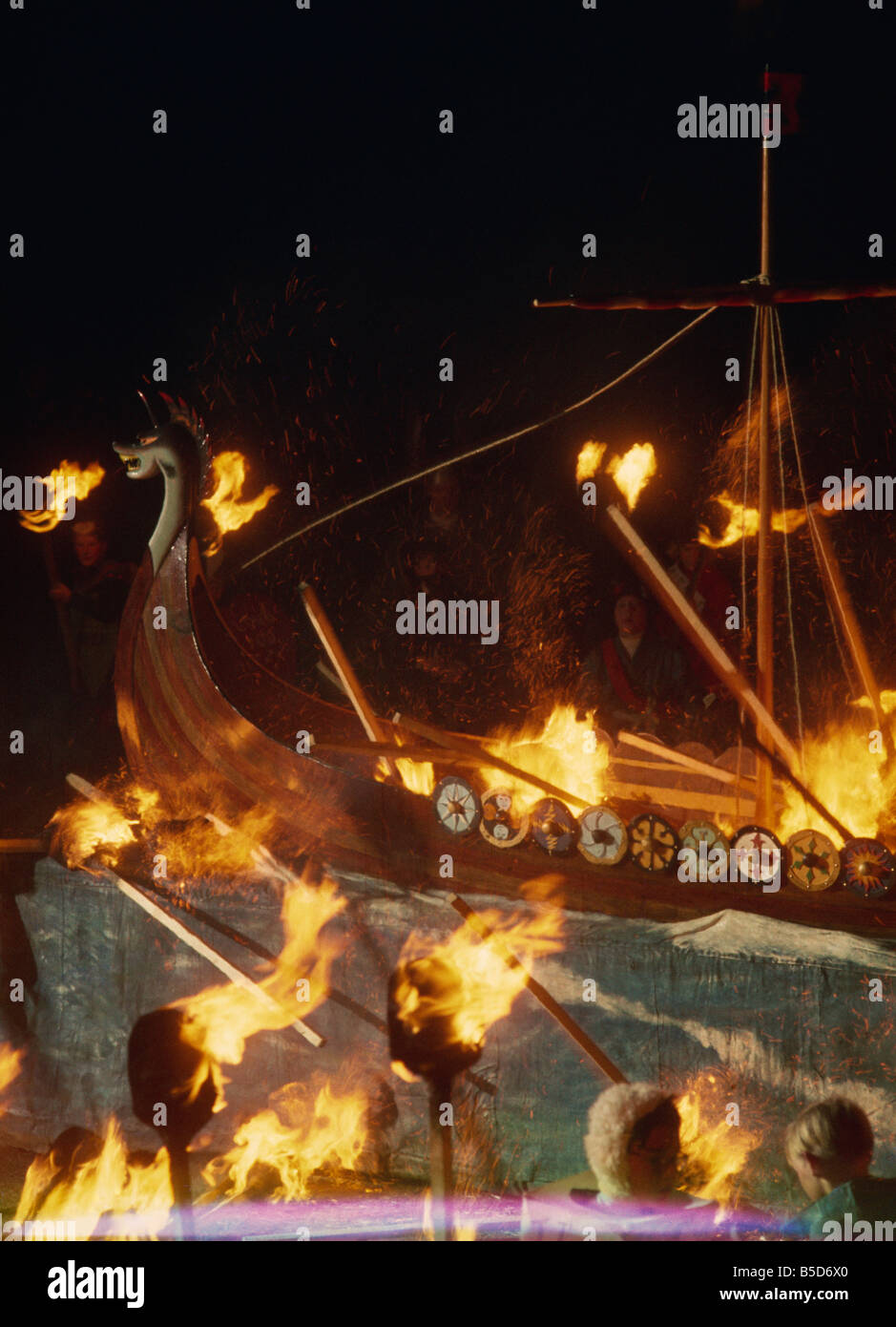 Up Helly Aa Festival, Shetlands, Scotland, Europe Stock Photo