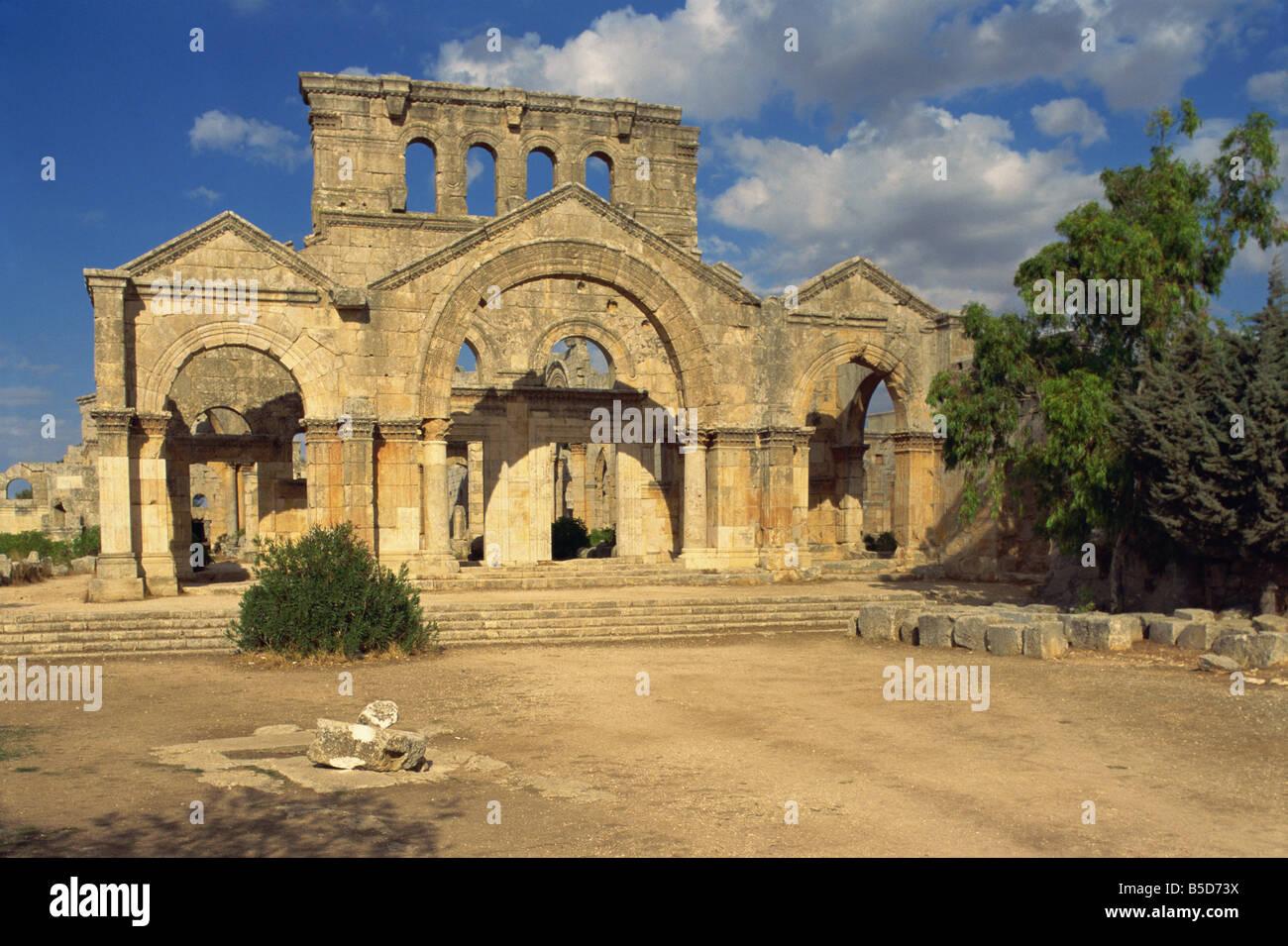 Basilica of San Simeon (Qala'at Samaan), Syria, Middle East - Stock Image