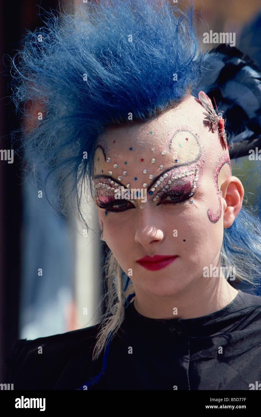 Portrait of a punk, Kensington, London, England, Europe - Stock Image