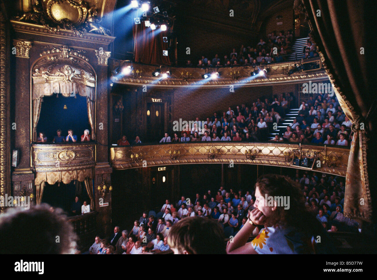 The audience at the Theatre Royal, Haymarket, London, England, Europe - Stock Image