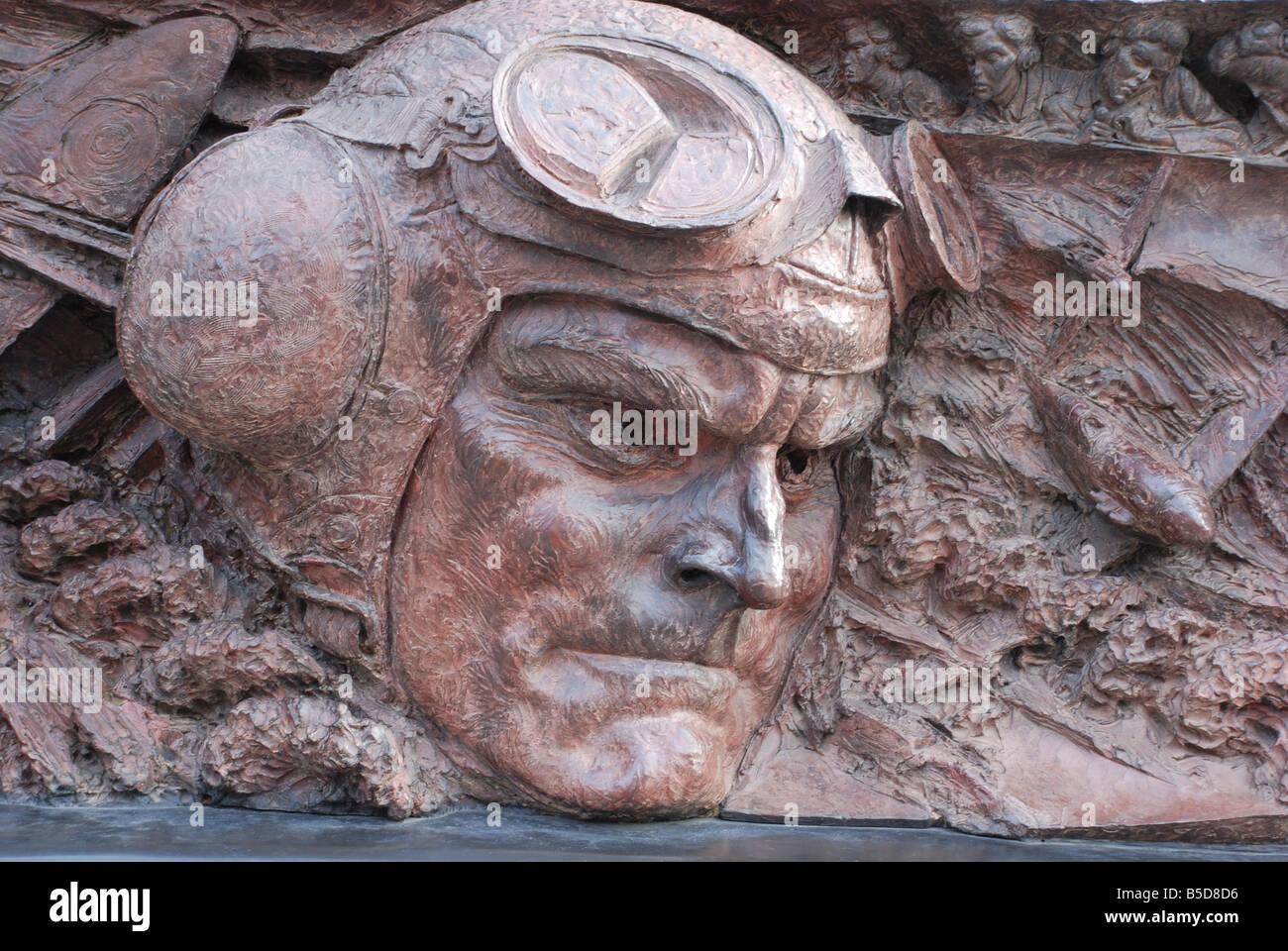 Battle of Britain War Memorial, London Embankment - Stock Image
