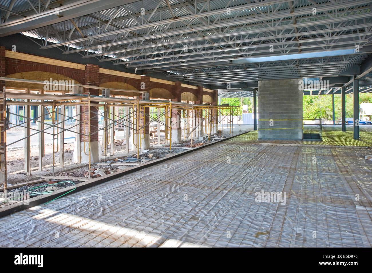 Inside Construction Site Commercial Building Interior Usa Stock Photo 20576282 Alamy