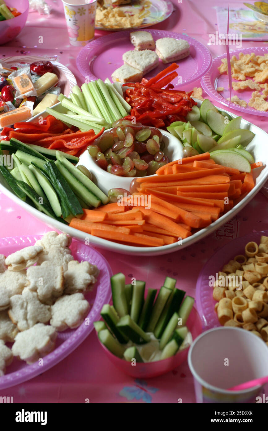 Kid S Party Food Children S Birthday Stock Photo 20576827 Alamy