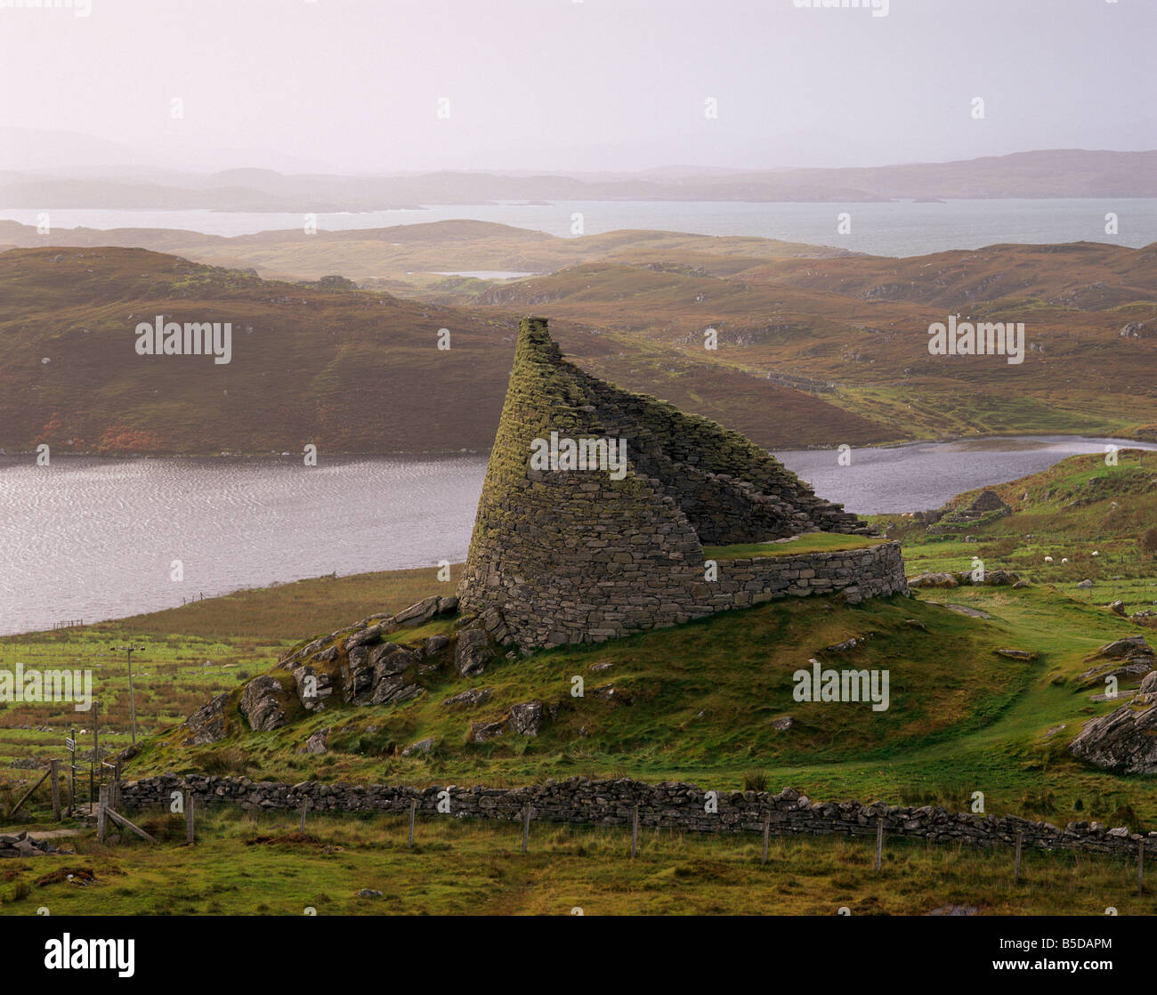 Dun Carloway broch, one of the best preserved in ScotlandLewis, Outer Hebrides, Scotland - Stock Image