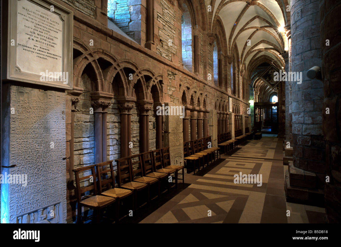 St. Magnus Cathedral, one of the best preserved cathedrals in Scotland, Kirkwall, Mainland, Orkney Islands, Scotland - Stock Image