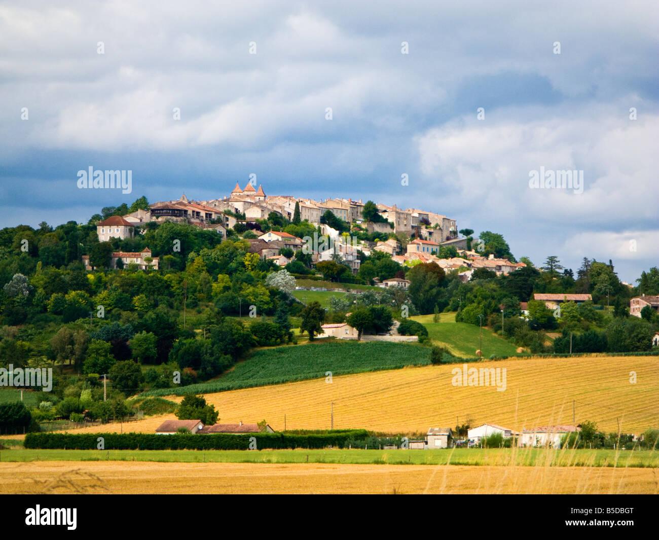 The French bastide town of Lauzerte in Tarn et Garonne, France, Europe - Stock Image