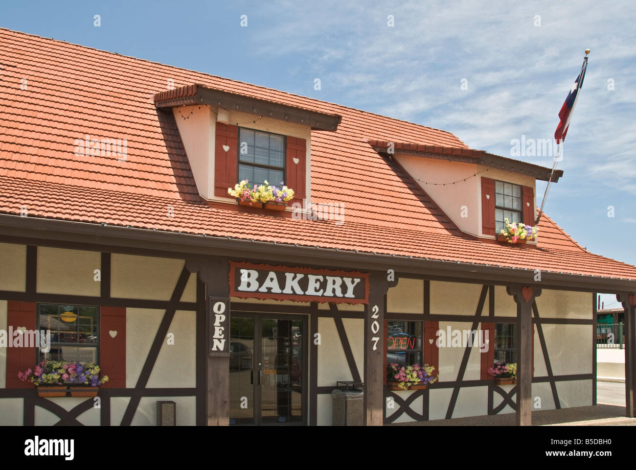 Texas Hill Country Castroville known as The Little Alsace of Texas Haby s Alsatian Bakery - Stock Image