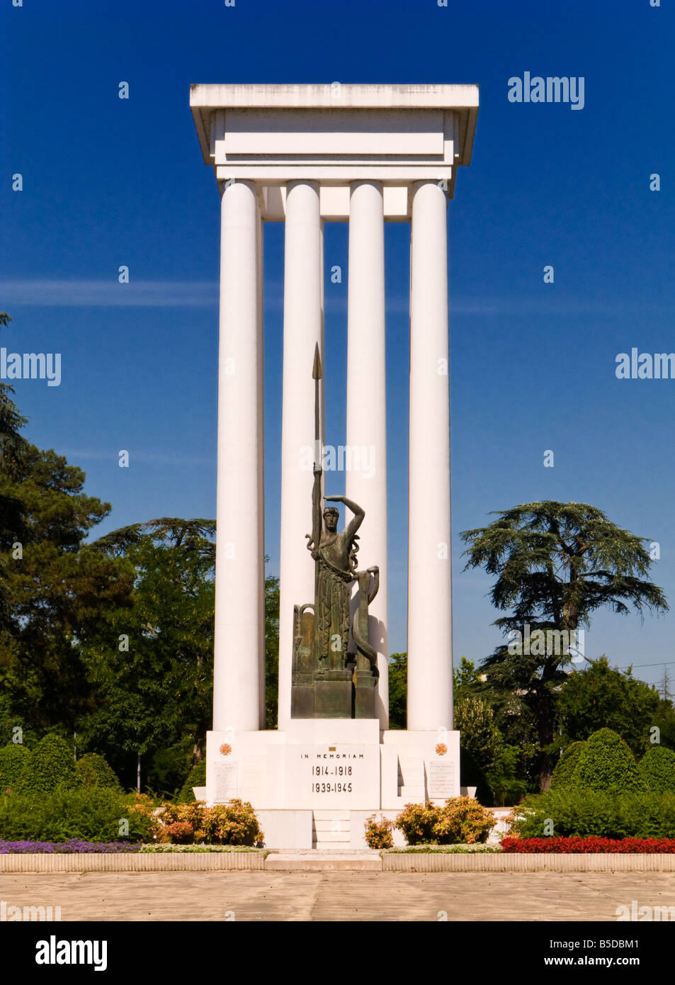 Monument to the dead of two World Wars in Montauban Tarn et Garonne France Europe - Stock Image
