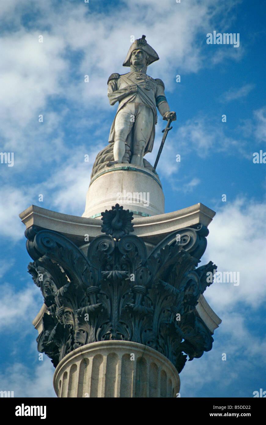 Nelson s Column Trafalgar Square London England UK J Hodson - Stock Image