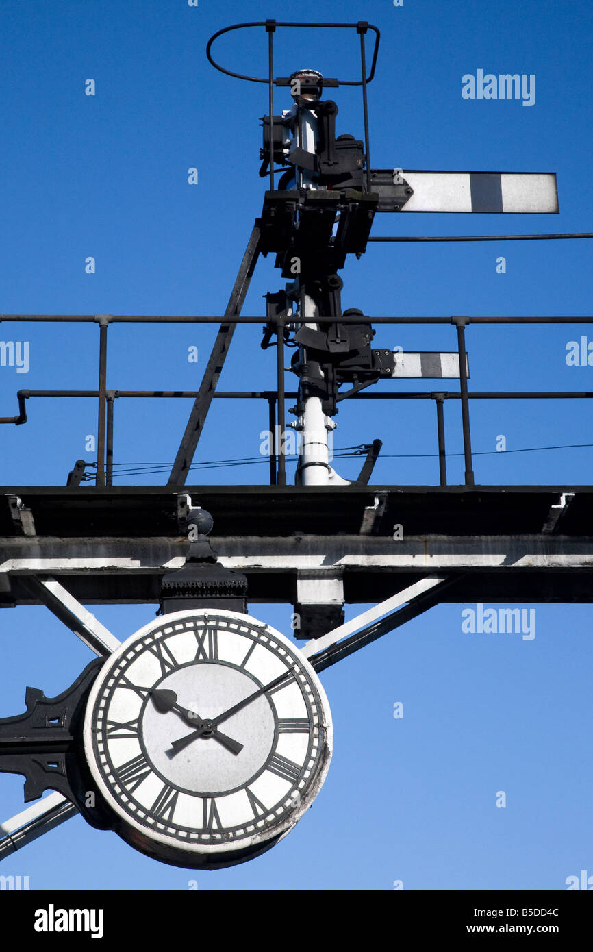 North Yorks Railway Station Clock, Grosmont, North Yorkshire Railway. - Stock Image