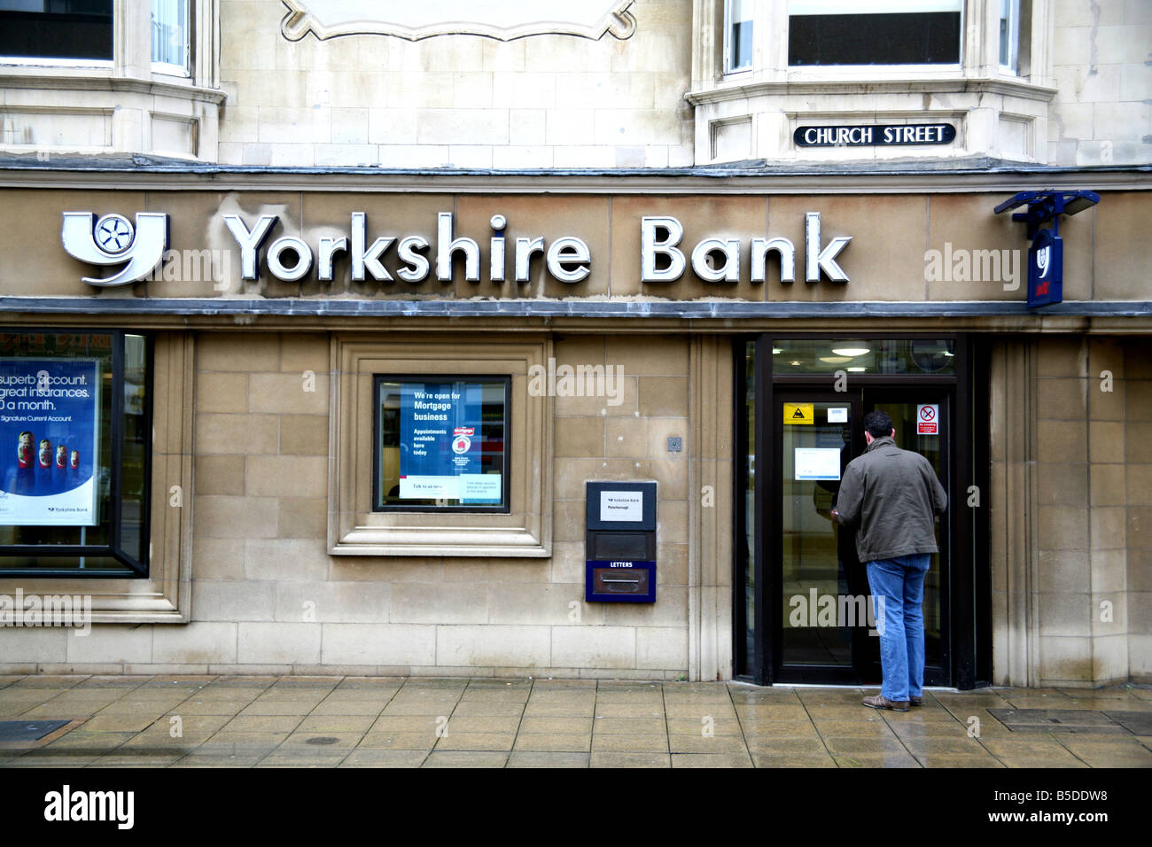 Branch of the Yorkshire Bank in Peterborough - Stock Image