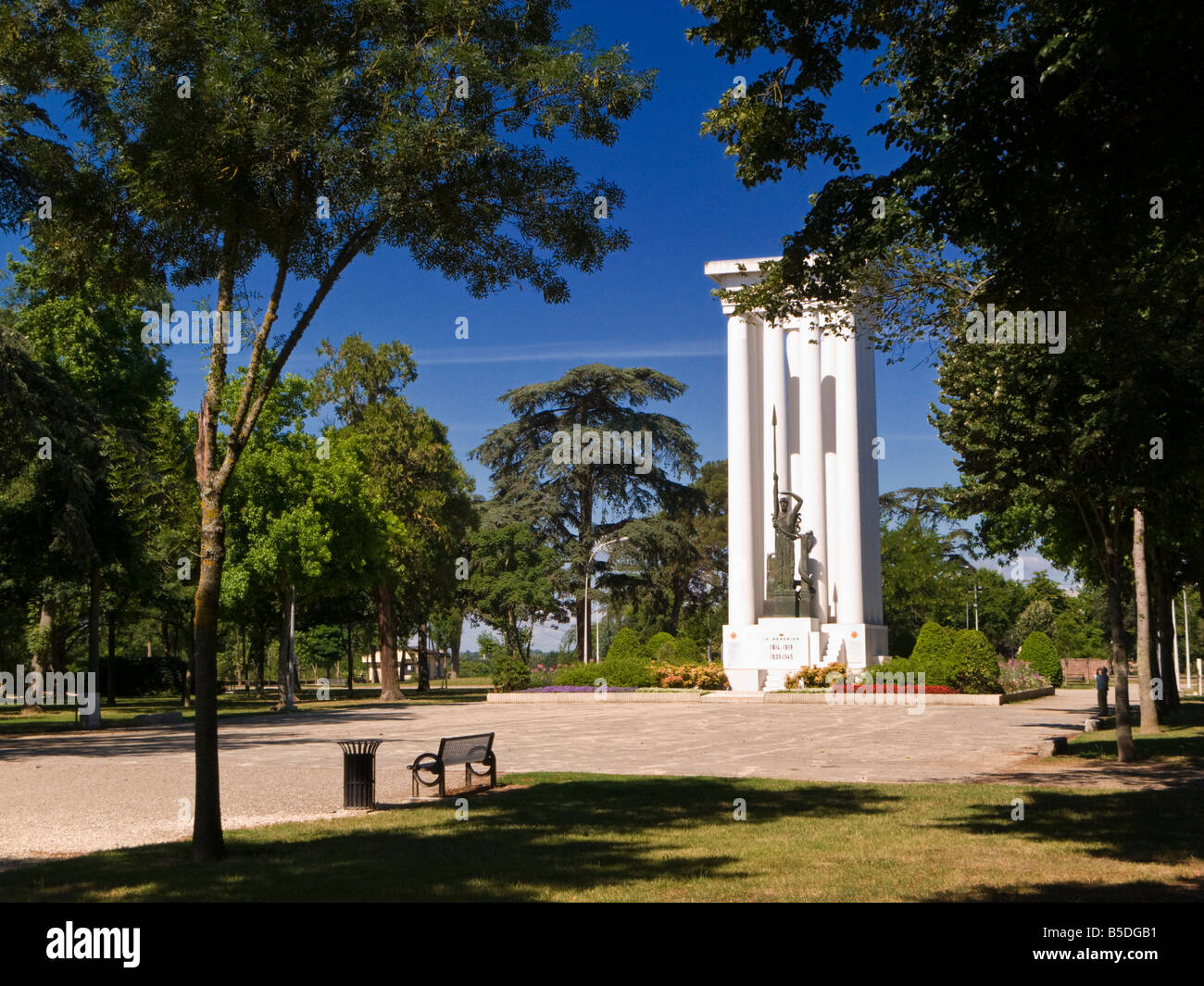 Monument to the dead of two World Wars in the town park in Montauban,Tarn et Garonne, France, Europe - Stock Image