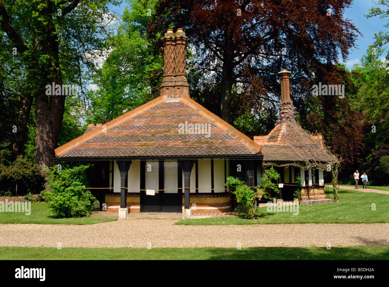Frogmore Gardens resting place of many Royals Windsor Berkshire England United Kingdom Europe - Stock Image