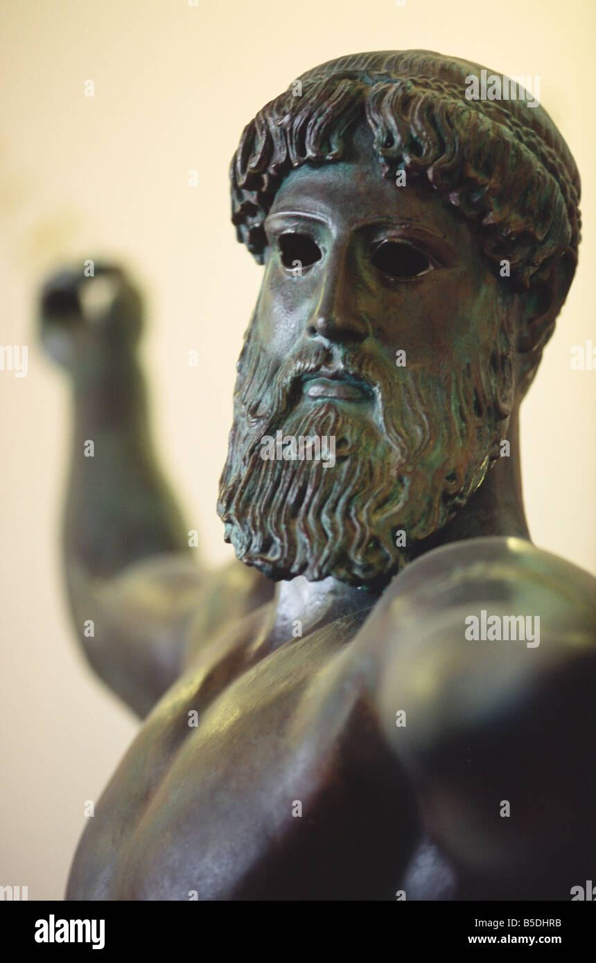 Statue of Poseidon Greece - Stock Image