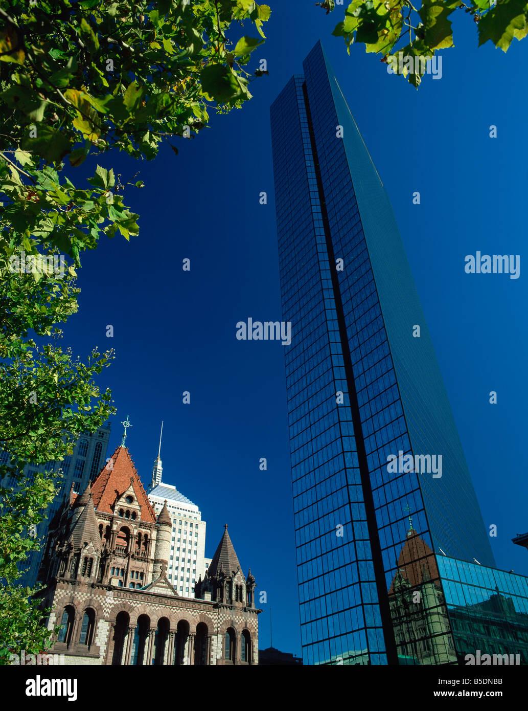 John Hancock Tower Boston Massachussetts United States of America North America - Stock Image