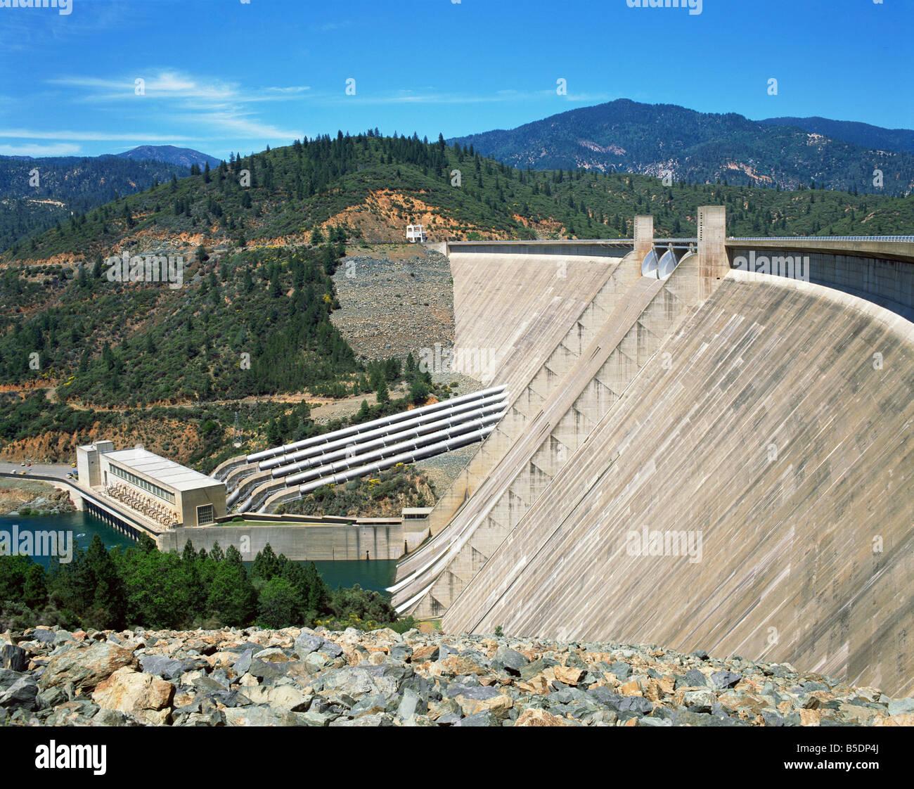 The Redding Shasta Dam in California, USA, North America - Stock Image