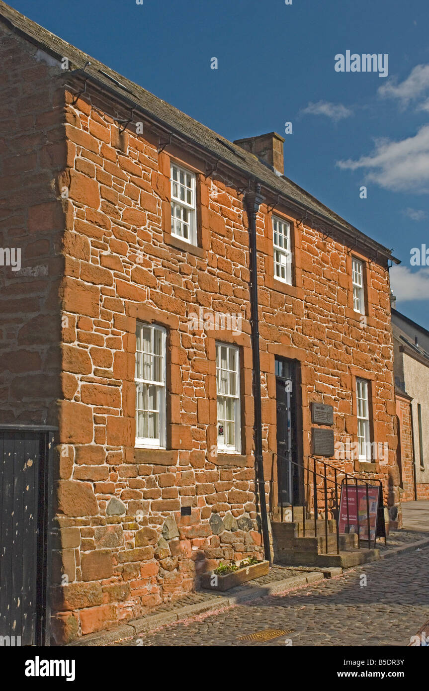 The home of Robert Burns, Scotland's celebrated poet, Burns Street, Dumfries, Dumfries and Galloway, Scotland, - Stock Image