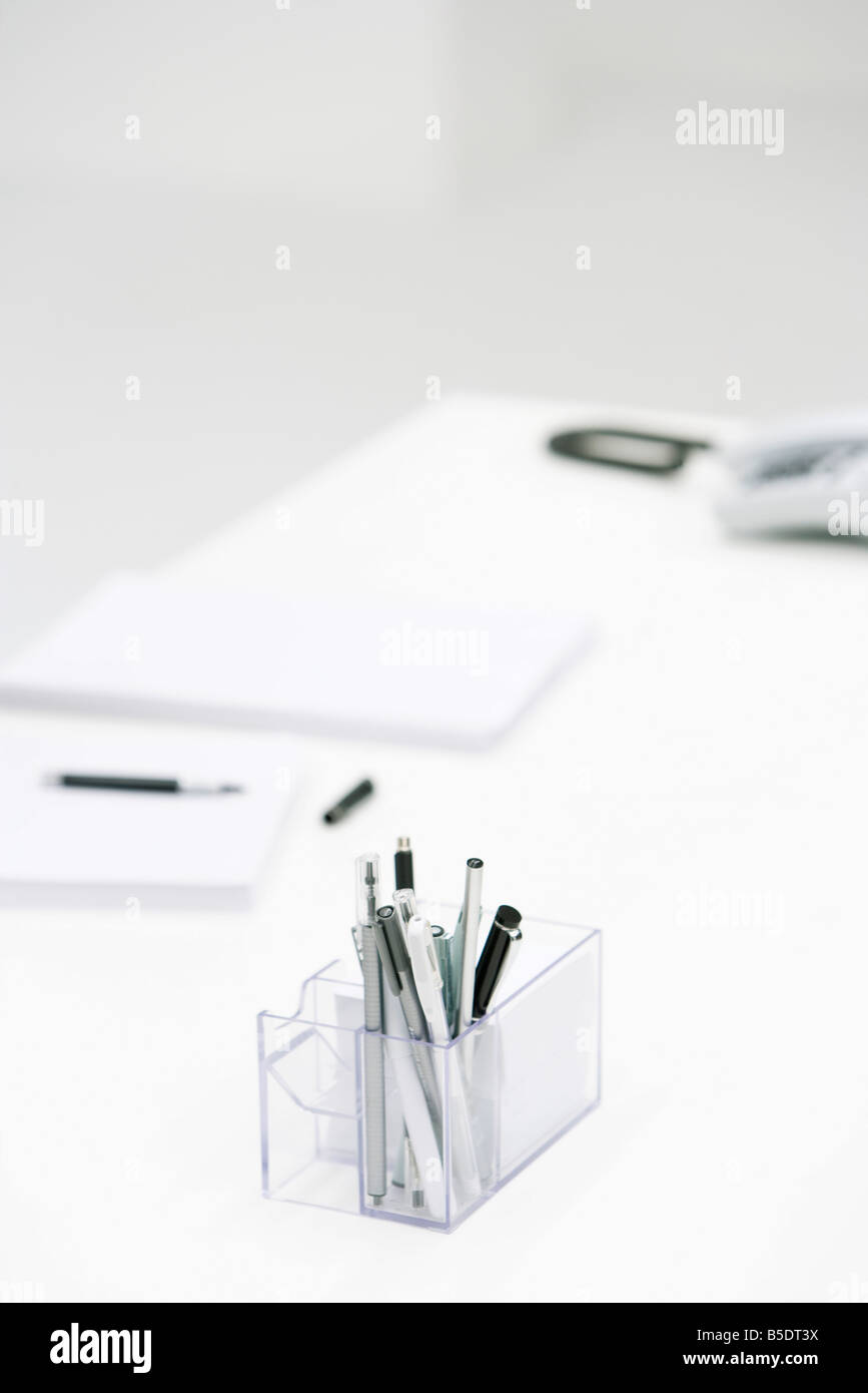Office Supplies On Desk