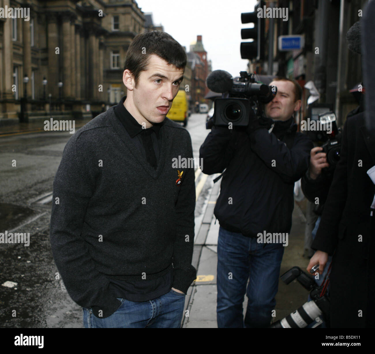 Newcastle United footballer Joey Barton arrives at Liverpool Magistrates Court on assault charges He was later bailed - Stock Image