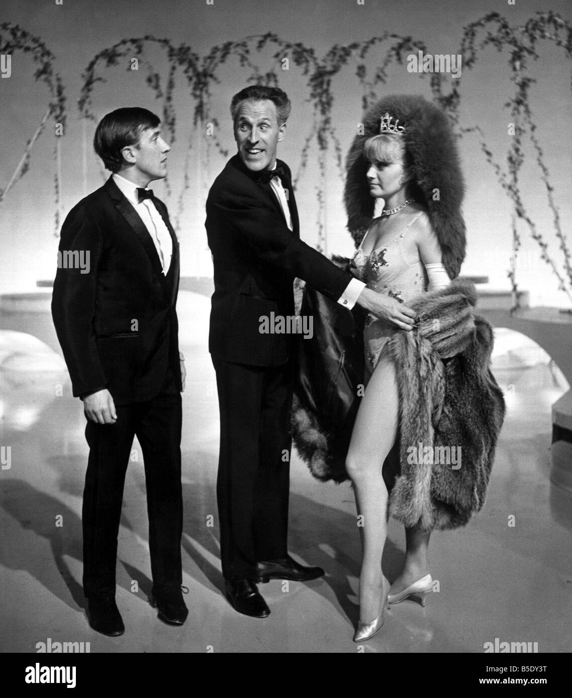 The Bruce Forsyth Show with Roy Castle and Georgina Allen circa 1965 - Stock Image