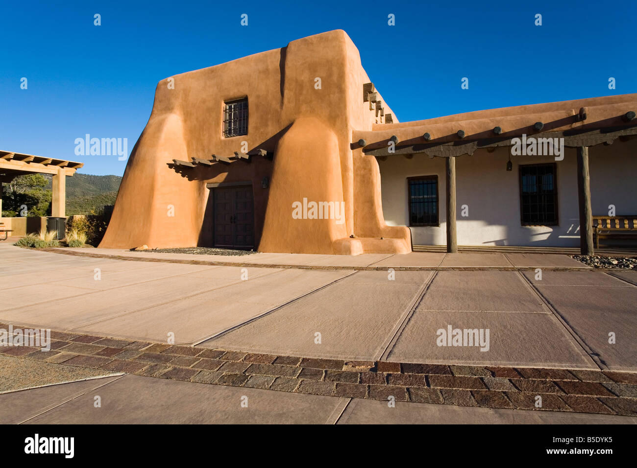 Laboratory of Anthropology, New Mexico Museum, Museum Hill, City of Santa Fe, New Mexico, USA, North America - Stock Image