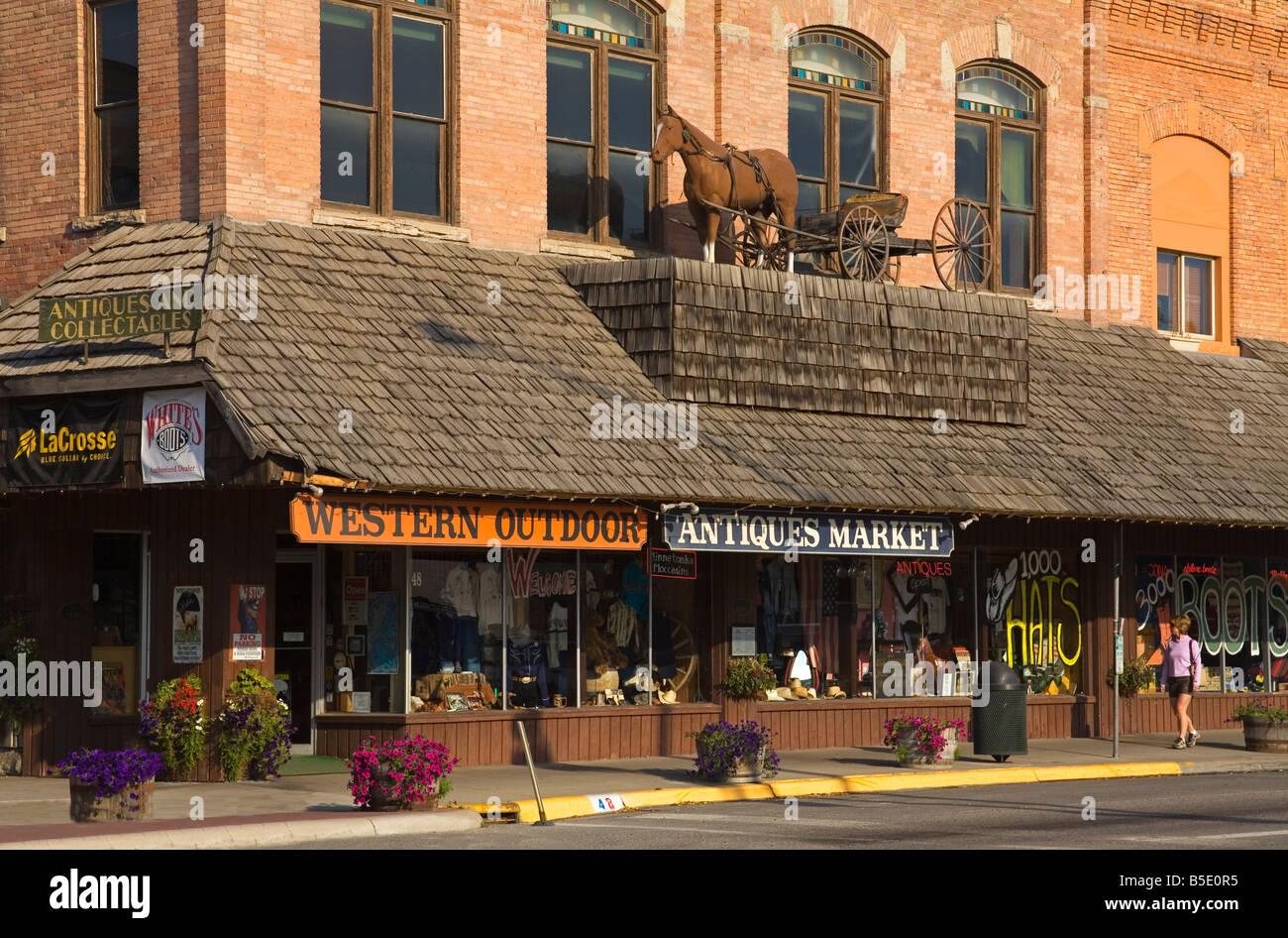 Downtown Kalispell Montana Usa North America Stock Photo