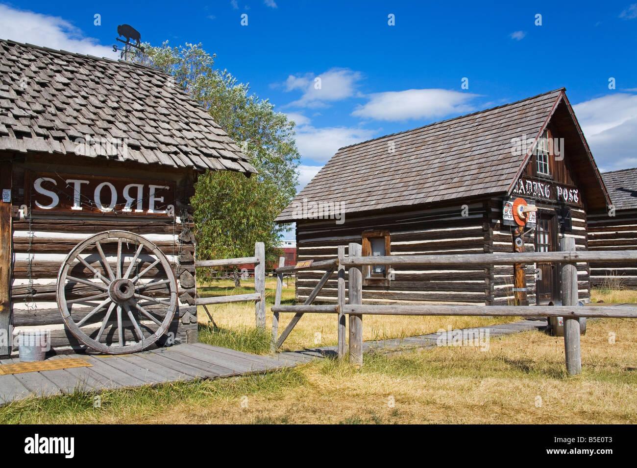 Four Winds Trading Post, St. Ignatius, Missoula Region, Montana, USA, North America - Stock Image
